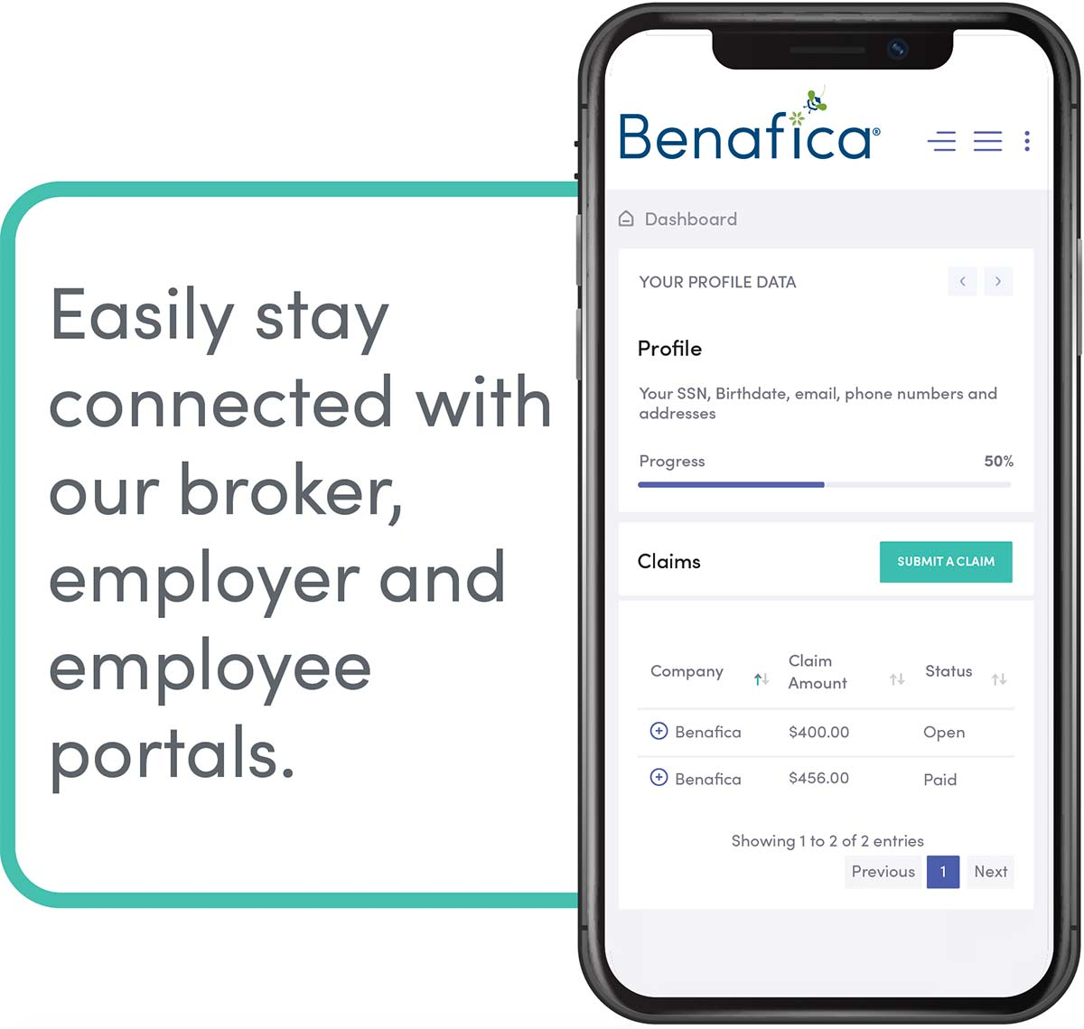 Easily stay connected with our broker, employer and employee portals.