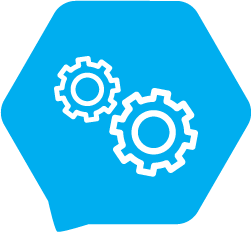 Icon with gears